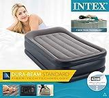Intex Deluxe Pillow Rest Raised Luftbett - Twin - 99 x 191 x 42 cm - Mit eingebaute elektrische Pumpe - 8