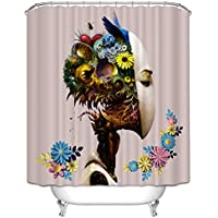 Lqrly 3D Shower Curtain with 12 Hooks
