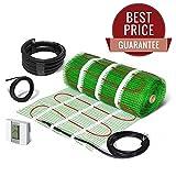 Eléctrico calefacción por suelo radiante alfombra autoadhesivo Kit 100 W/m2 1 - 15m2 – Garantía de por vida. (Patrón, Sin Termostato)