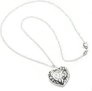 PRESKIN Sweet Heart Antico Disegno Coordinata con Catena in Argento 45 Centimetri