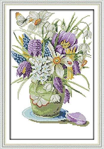 Kreuzmalerei Show Joy Sunday Vase Chinesische KreuzstichKits ?kologische Baumwolle gestempelt gedruckt DIY Geschenk Hochzeitsdekoration f¨¹r zu Hause