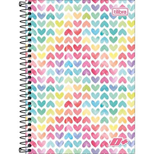 Caderno Espiral 1/4 Capa Dura D+ 200 Folhas - Pacote com 4, Tilibra, 14.052, Multicor