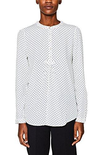 ESPRIT Damen 018EE1F004 Bluse, Mehrfarbig (Off White 110), 36