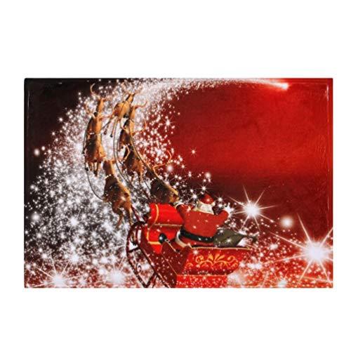 Kanzd Christmas Snowman Home Non-Slip Door Floor Mats Rubber Carpet Hall Rugs Kitchen Bathroom Carpet Decor