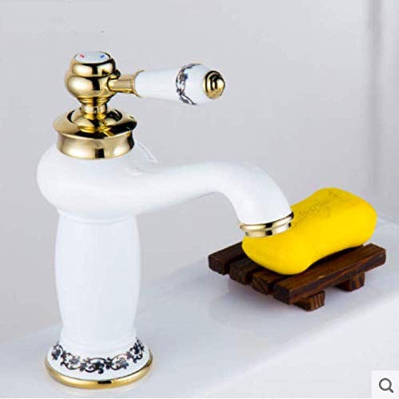 360 ° drehbarer Wasserhahn Retro FaucetWeiß Porzellan heie und kalte drehende Küche Retro über Gegenbecken Wasserhahn
