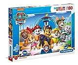 Clementoni - Paw Patrol Supercolor Patrol-180 Piezas, Fabricado en Italia, Puzzle para niños 7 años +, Multicolor, 29105