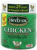 Herb-Ox Chicken Bouillon Cubes, 25-Cubes (Pack of 12)