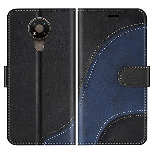 BoxTii Cover per Nokia 3.4, Custodia in PU Pelle Portafoglio per Nokia 3.4, Magnetica Cover a Libro con Slot per Schede, Nero