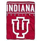NORTHWEST NCAA Indiana Hoosiers Raschel Throw Blanket, 60' x 80', Basic
