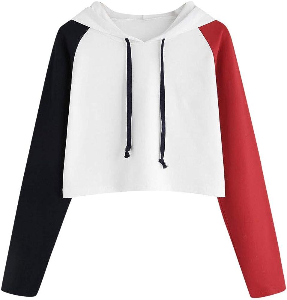 LISTHA Cute Cloud Hoodie Women Crop Tops Long Sleeve Hooded Pullover Sweatshirt