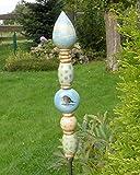Keramik Stele, Gartendeko, frostfest, getöpfert, handgemacht