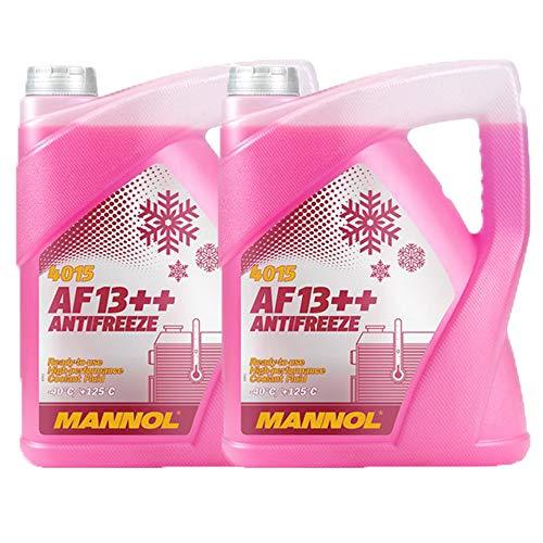 MANNOL 2 x 5 Liter, AF13++ -40°C Antifreeze Kühlerfrostschutz Fertigmischung G13
