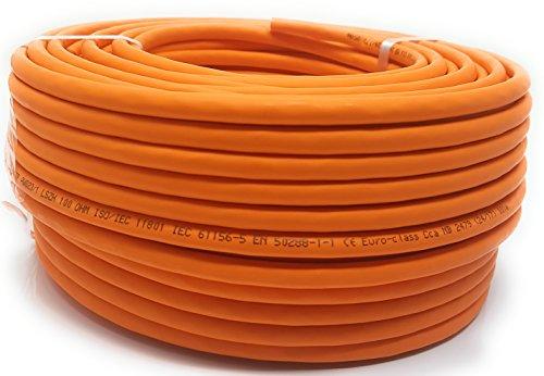 Bobina 50M Cat 7 Reel - Cavo Ethernet, cavo di rete senza alogeni 1000 MHz rame super veloce - (PoE) PoE +