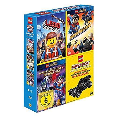 "LEGO Hero Box (inkl. LEGO Minifigur ""Das Batmobil"") 3 Filme / The Lego Movie, Lego Super Heroes Gerechtigkeitsliga vs Bizarro Liga und Angriff der Legion der Verdammnis"
