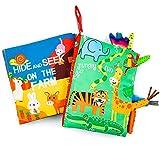 MOOKLIN ROAM Libros de Tela Blandos para Bebé, 2pcs Grande Libros De Colas Sensoriales Suave 3D, Aprendizaje y Educativo Juguete para Bebé Recién Nacido Niños(Tigre + Granja)