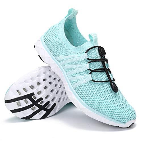 gracosy Zapatos Agua Deportivos Mujer 2020 Cómodo Escarpines Correr Zapatos para Caminar Ligeros Antideslizantes al Aire Libre Zapatillas de Deporte Playa Negro Piscina