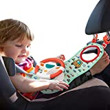 UNIH Baby Car Seat Toysfor Infants with Mirror, Carseat Toys Steering Wheel with Music Lights and Driving Sounds