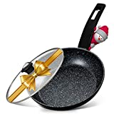 11' Skillet for Frying - Copper Nonstick Frying Pan with Lid, 100% PFOA-Free, All Stove Tops...