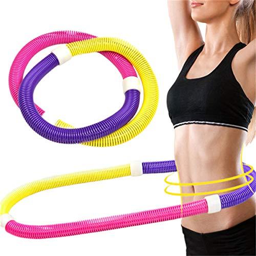 Nologo Whz-zyf Yoga Taille Exercice Minceur Sport Hoops Boucles de Gymnastique Douce Anneau SpringCircle Femmes for réduire Le Poids Fitness Equipment, Durable (Couleur : Rouge)