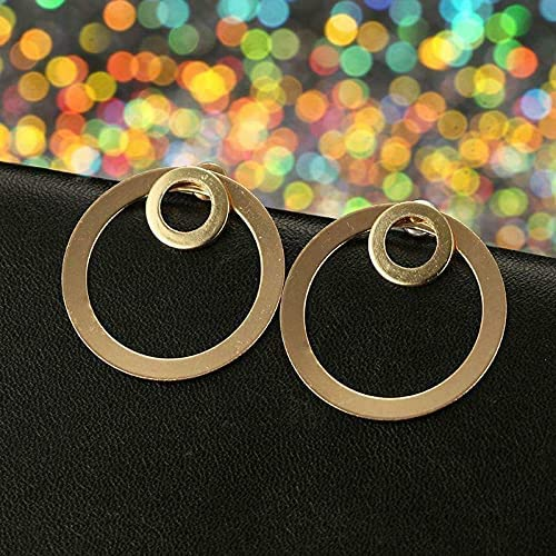 Minimalist sold out Gold Double Circle Stud Earrings Jack Side Ear Chicago Mall