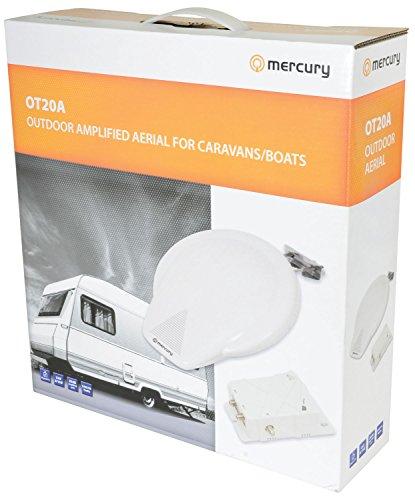 Mercury Outdoor TV Aerial Kit for Camping,Caravan,Boat