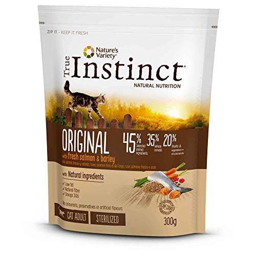 Croquettes True Instinct pour chats Original Sterilised Saumon Sac 300 g