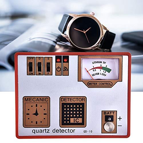 Jarchii 【2021 Neujahrsaktion】 Quarzdetektor Uhr Zeitmessmaschine Atterie & Impulstester, Batterietester, Uhrentmagnetisierer für Uhrmacher Wacth Repair