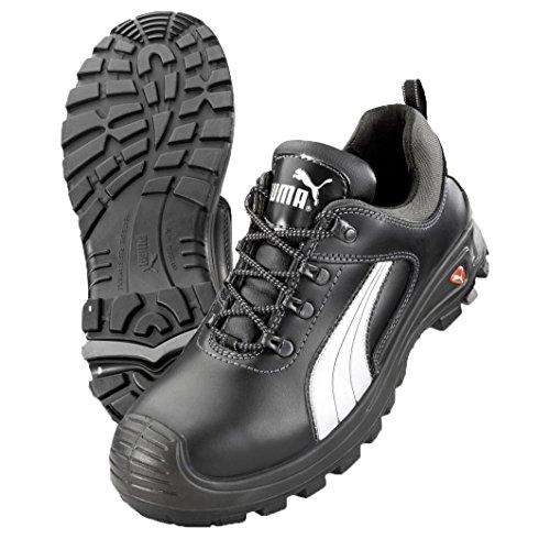 Puma Safety Shoes Cascades Low S3 HRO SRC, Puma 640720-202 Unisex-Erwachsene Sicherheitsschuhe, Schwarz (schwarz/weiß 202), EU 42