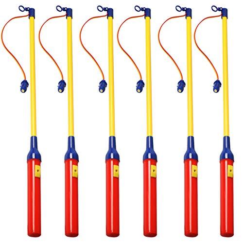 Koopower 6 Pack LED Laternenstab, Elektronischer Laternenstab für Kinderpartys, Kindergarten, Mitgebsel Kindergeburtstage, Halloween, Weihnachten und Mehr