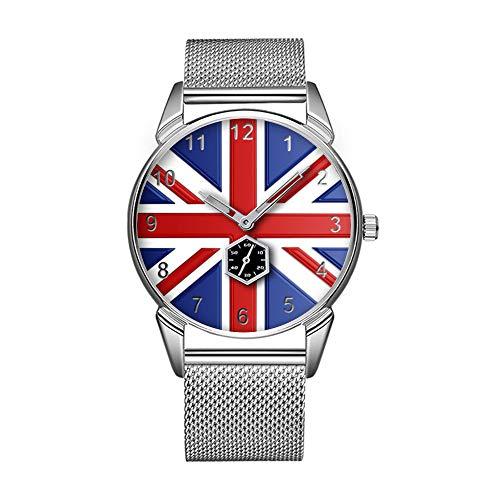Mode wasserdicht Uhr minimalistischen Persönlichkeit Muster Uhr -893. Union Jack Time