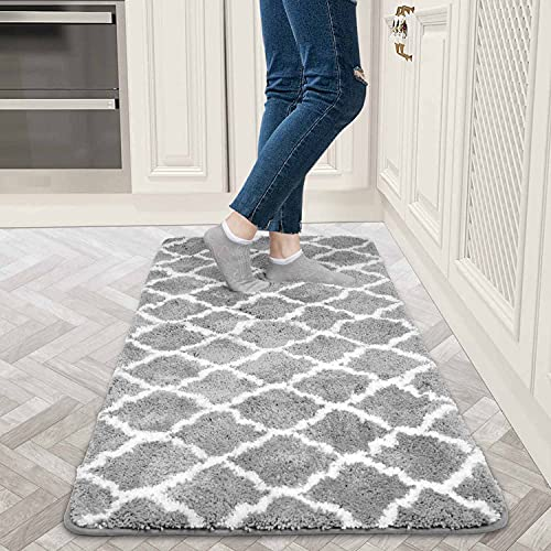 AiBOB Kitchen Rug, 24 X 59 inches, Washable Floor mat, Non-Slip Comfortable Carpet for kithcen, Laundry, Office and bothroom