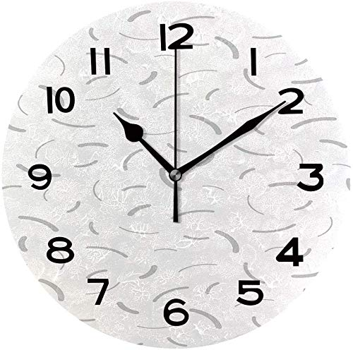 Ad4ssdu4 Reloj redondo muestra patrones Memphis único reloj de pared