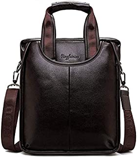 DIEBELLAU Men's Bag One-Shoulder Men's Handbag Business Briefcase Vertical Style Crossbody Casual Tide Backpack (Color : Brown1824)