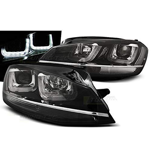 Rechts Links Scheinwerfer mit Dynamischer LED Blinker GTI-Optik für Golf 7 Halogen Leuchten 2012-2017 weiß