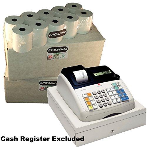 EPOSBITS® 40 rollos de recibos – 2 cajas para caja registradora Olivetti ECR 7100 ECR7100