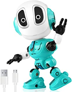 Betheaces Robots Toy for Kids, Boys, Girls - Metal Talking Robot Kit with Sound & Touch Sensitive LED Eyes Flexible Body, ...