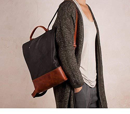 Leather backpack, anti-theft backpack, black and brown backpack, handmade backpack, safe backpack