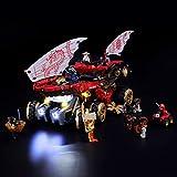 BRIKSMAX Kit de LED pour Lego Ninjago Le Q.G des Ninjas,Compatible avec la Maquette...