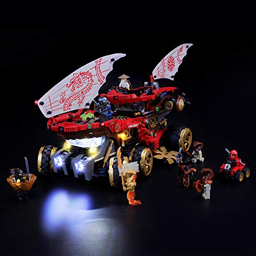 BRIKSMAX Kit de Iluminación Led para Lego Ninjago Navío de Tierra de Vehículo Todoterreno Ninja,Compatible con Ladrillos de Construcción Lego Modelo 70677, Juego de Legos no Incluido