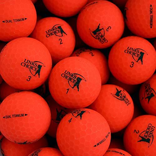 Links Choice Unisex 12Dual Titan Vibe Optik matt Finish Golf Kugeln, rot