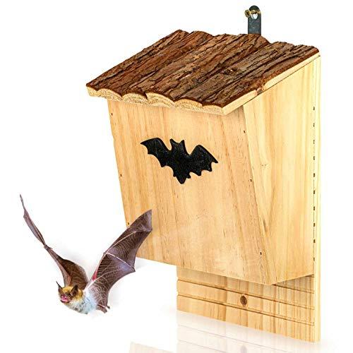 Skojig Fledermauskasten aus Kiefernholz - fertig verschraubt & unbehandelt : Fledermaushaus | Fledermaushöhle | Fledermausnistkasten