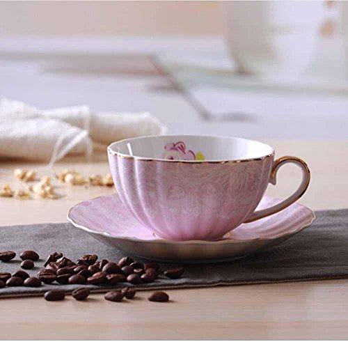 mugs and cups SSBY Oro Olandese dell'osso Cina caffè Tazze e piattini, Insieme di Vetro, Set da tè in Ceramica