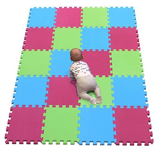 YIMINYUER Alfombra puzles para Bebe Puzzle Infantil Suelo Piezas Goma eva ninos de Suelo Grande Infantiles Azul Rojo Pastoverde R07R09R15G301020