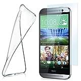 moex Aero Hülle mit Panzerglas für HTC One M8 / M8s - Hülle mit Schutzfolie, transparent - Crystal Clear