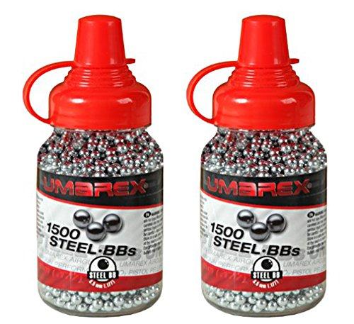 Outletdelocio. Pack 2 biberones Bolas Acero Umarex Steel BBS (4,5mm) 1500 Piezas Cada Unidad. 2-52121