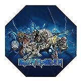 Bjhkmemg Iron Maiden Negro portátil Mini Telescopio Paraguas for los Hombres y Las Mujeres Bastidor Reforzado a Prueba de Viento del pabellón invertido Plegable a Prueba de Viento de Viaje Paraguas