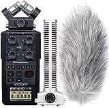 Zoom H6 Recorder SGH-6 Shotgun - Micrófono y auriculares Keepdrum