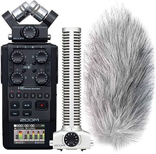 Zoom H6Recorder + SGH- 6Shotgun microfono + Cuffie KEEPDRUM gratis.