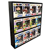 in Box Display Case Toy Shelf for 4 in. Vinyl Collectible Figures, Black Corrugated Cardboard