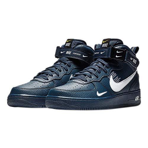 Nike Herren AIR Force 1 MID '07 LV8 Fitnessschuhe, Mehrfarbig (Obsidian/weiß/schwarz/Tour Yellow 403), 38.5 EU